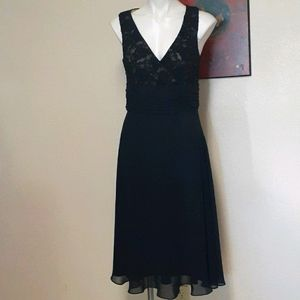 Patra black dress with lace